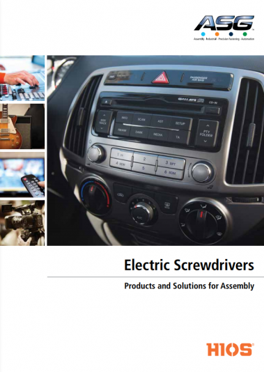 ASG Eletric Screwdrivers Catalog